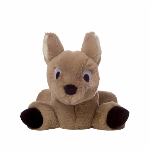 """Manhattan Toy Floppies 7"""" Baby Fawn Plush Toy Perspective: top"""