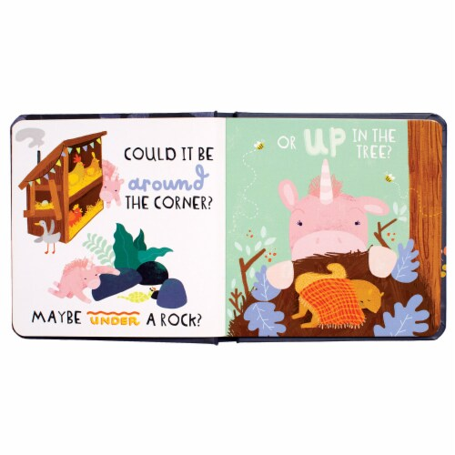 Manhattan Toy Finding Home - A Little Unicorn's Tale Board Book, Ages 6 Months and up Perspective: top