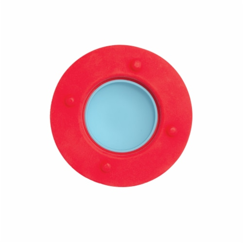 Manhattan Toy Space Themed Flying Saucer Silicone Teether Perspective: top