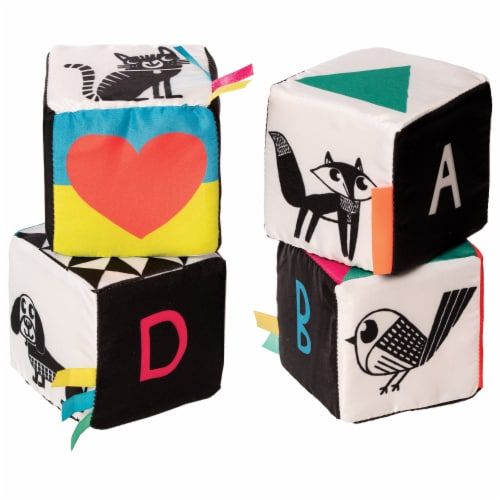 Manhattan Toy Wimmer-Ferguson Mind Cubes Soft Baby Activity Toy Perspective: top
