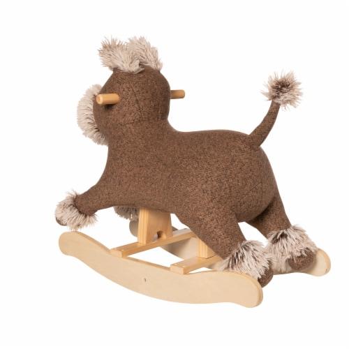 Manhattan Toy Terrier Plush Dog Wooden Rocking Toy Perspective: top