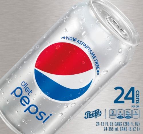 Diet Pepsi Cola Soda 24 Pack Perspective: top
