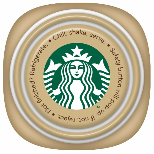 Starbucks Frappuccino Vanilla Iced Coffee Drink Perspective: top
