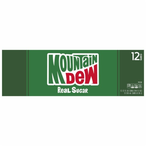 Mountain Dew Throwback Soda 12 Pack Perspective: top