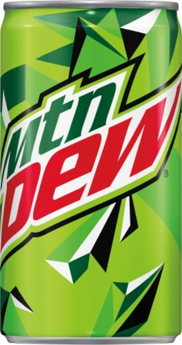 Mountain Dew Soda Mini Cans Perspective: top