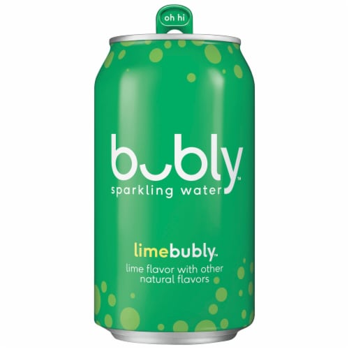 bubly Lime Sparkling Water Perspective: top