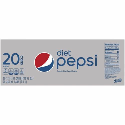 Diet Pepsi Cola Soda Perspective: top