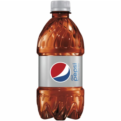 Diet Pepsi Cola Soda Bottles Perspective: top