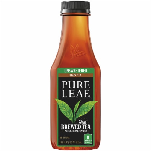 Pure Leaf Unsweetened Black Tea Perspective: top