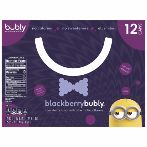 bubly Blackberry Sparkling Water Perspective: top