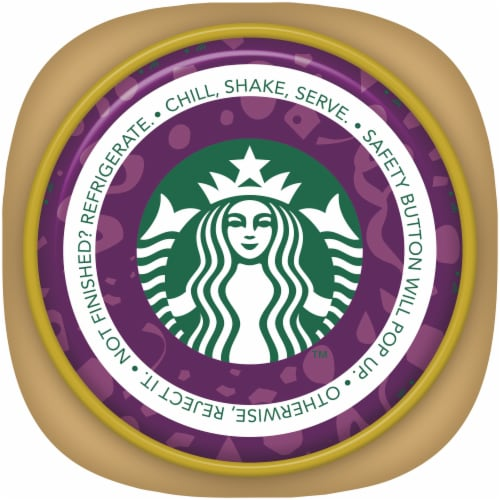 Starbucks Frappuccino Salted Dark Chocolate Iced Coffee Drink Perspective: top