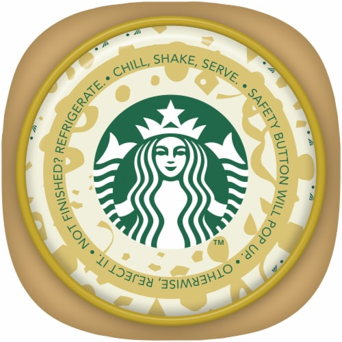 Starbucks Frappuccino Toasted White Chocolate with Cold Brew Iced Coffee Drink Perspective: top