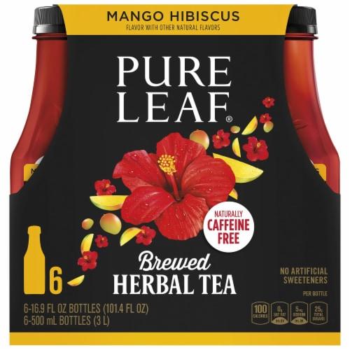 Pure Leaf Mango Hibiscus Brewed Herbal Tea Perspective: top