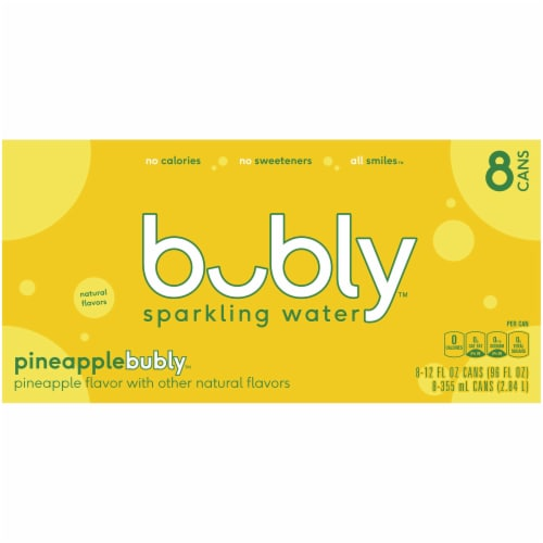 bubly Pineapple Sparkling Water Perspective: top