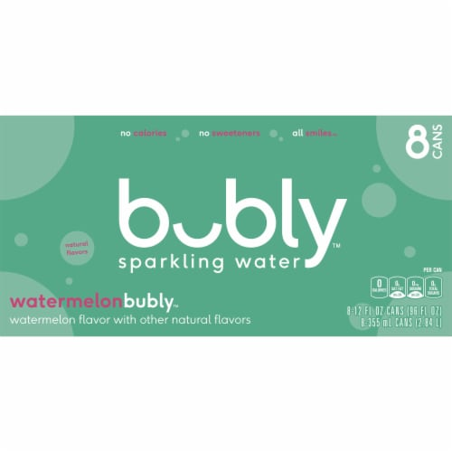 bubly Watermelon Sparkling Water Perspective: top
