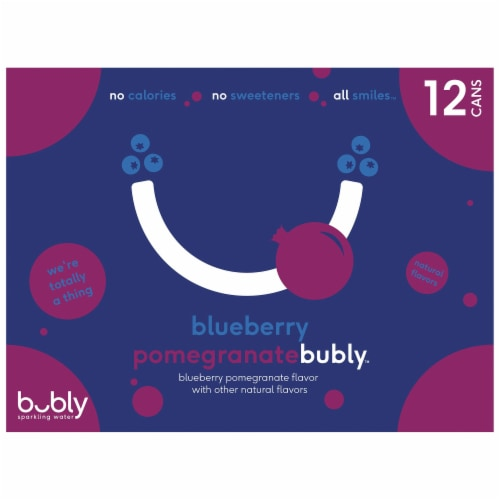 bubly Blueberry Pomegranate Sparkling Water Perspective: top