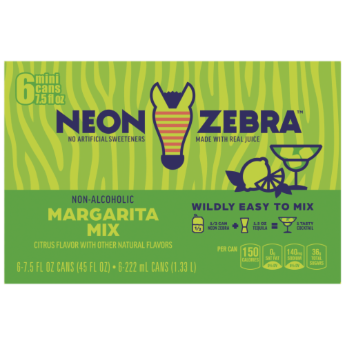 Neon Zebra™ Citrus Flavor Margarita Mix Perspective: top