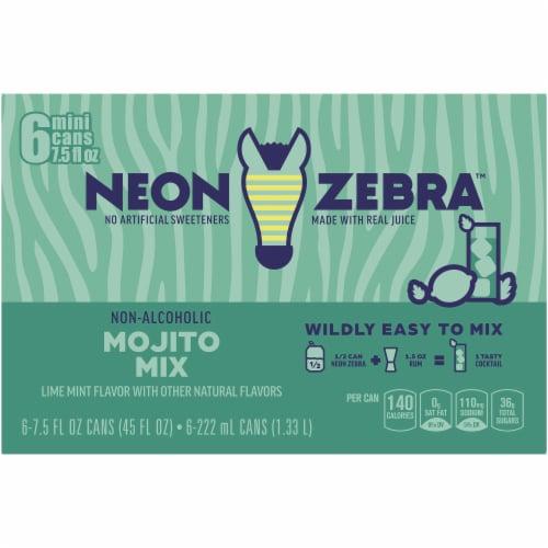 Neon Zebra Mojito Mix Lime Mint Flavor Perspective: top