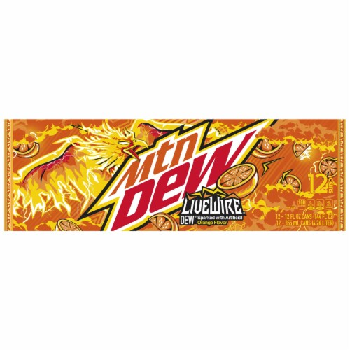 Mountain Dew Live Wire Soda Perspective: top