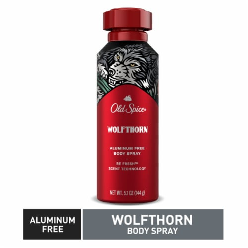 Old Spice Wolfthorn Aluminum Free Body Spray Perspective: top
