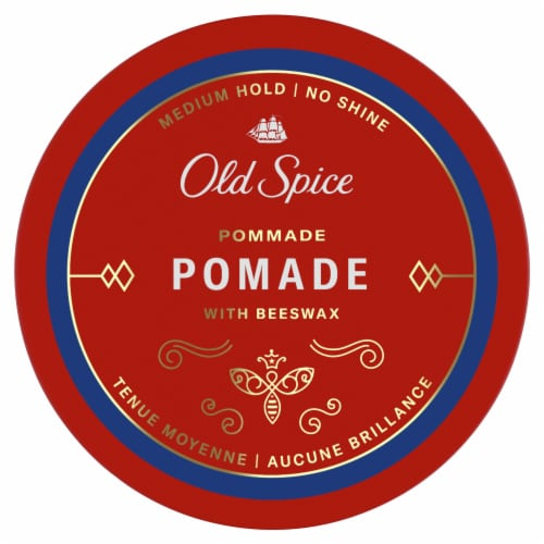Old Spice Medium Shine Hair Styling Pomade Perspective: top
