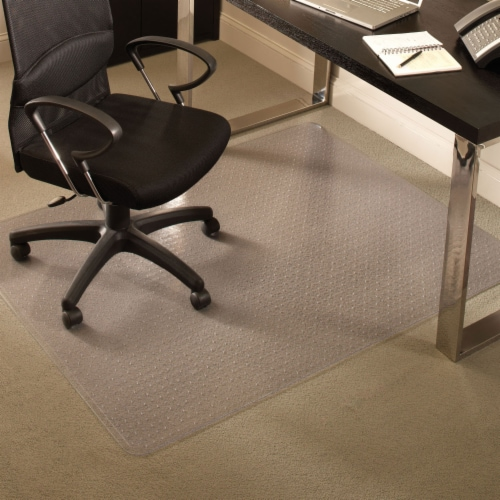 ES Robbins 45 Inch x 53 Inch Everlife Carpet Chair Mat for 3/4 Inch Thick Carpet Perspective: top