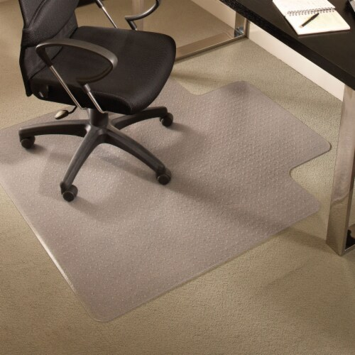 ES Robbins 46 Inch x 60 Inch Everlife Carpet Chair Mat for 3/4 Inch Thick Carpet Perspective: top