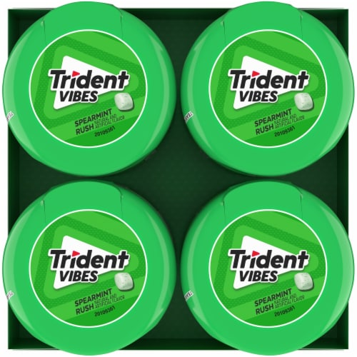Trident Vibes Spearmint Rush Gum Perspective: top