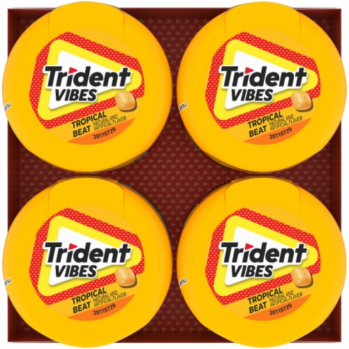 Trident Vibes Tropical Beat Gum Perspective: top