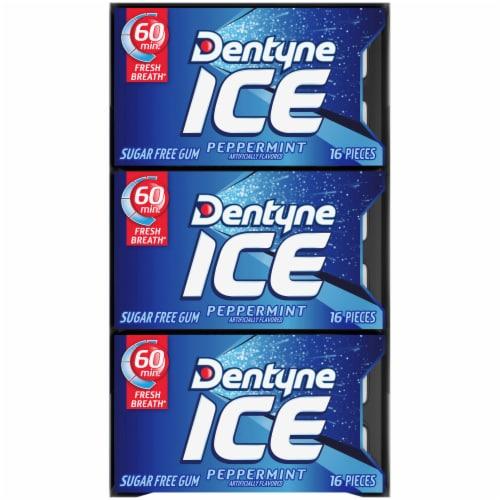 Dentyne Ice Peppermint Sugar Free Gum Perspective: top
