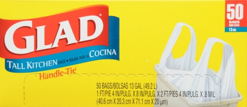 Glad Tall Handle-Tie 13 Gallon Kitchen Bags Perspective: top
