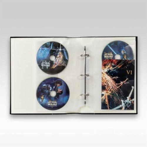 Bellagio-Italia Classic DVD Storage Binder - Black Perspective: top