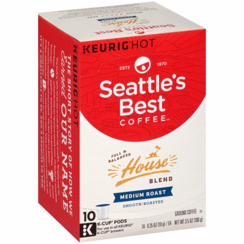 Seattle's Best House Blend Medium Roast Coffee K-Cup Pods Perspective: top