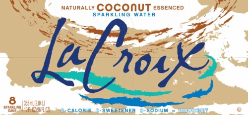 LaCroix Coconut Sparkling Water Perspective: top