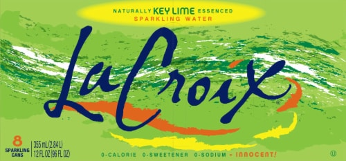 LaCroix® Key Lime Sparkling Water Perspective: top