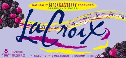 LaCroix Black Razzberry Sparkling Water Perspective: top