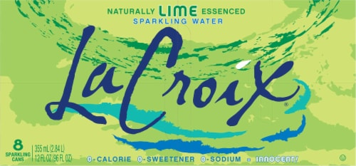 LaCroix Lime Sparkling Water Perspective: top