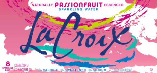 LaCroix Passionfruit Sparkling Water Perspective: top