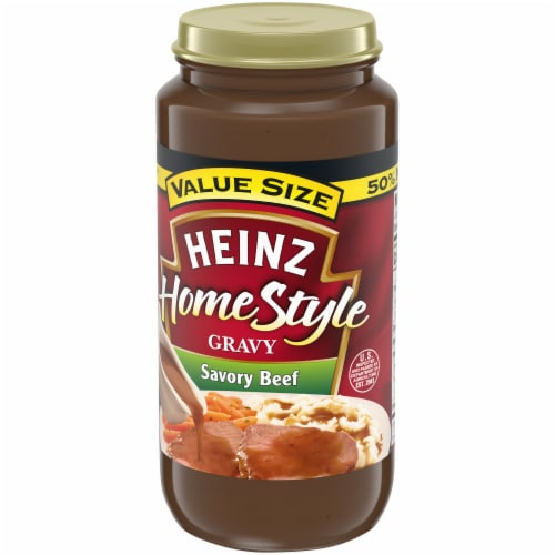 Heinz Homestyle Savory Beef Gravy Perspective: top