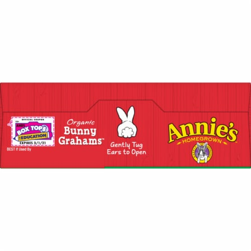 Annie's Organic Cinnamon Baked Bunny Grahams Perspective: top