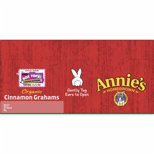 Annie's Homegrown Organic Cinnamon Graham Crackers Perspective: top