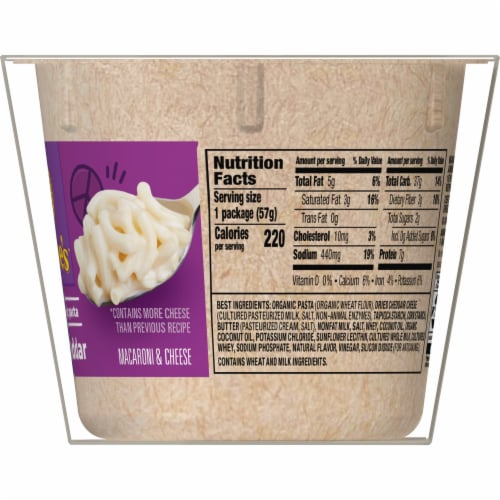 Annie's White Cheddar Macaroni & Cheese Microwave Cups Perspective: top