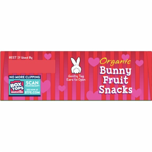 Annie's Organic Strawberry Bunny Fruit Snacks Perspective: top