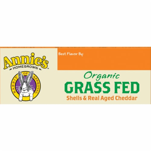 Annie's Organic Shells & Real Aged Cheddar Macaroni and Cheese Perspective: top