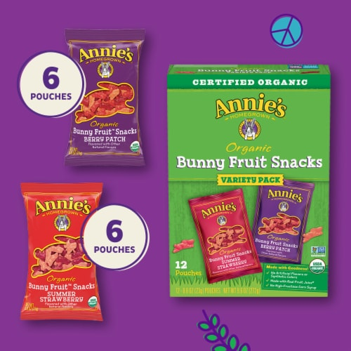 Annie's Organic Bunny Fruit Snacks Variety Pack Perspective: top