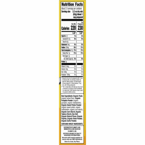 Annie's Organic Vegan Shell Pasta & Creamy Sauce Perspective: top