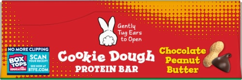 Annie's™ Homegrown Organic Chocolate Peanut Butter Cookie Dough Protein Bars Perspective: top