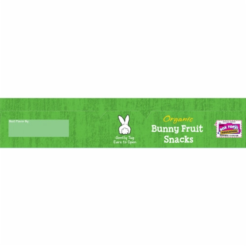 Annie's Organic Tropical Treat Bunny Fruit Snacks Perspective: top