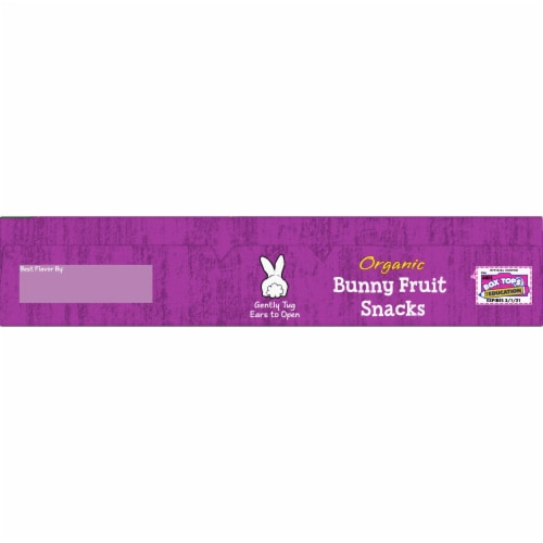 Annie's Organic Grape Galore Bunny Fruit Snacks Perspective: top