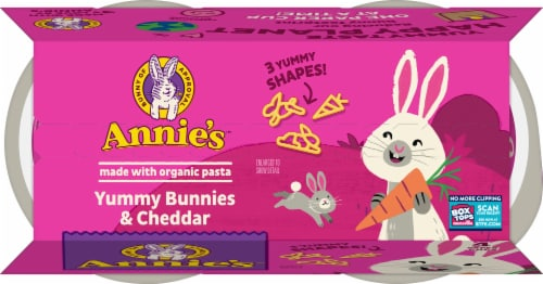 Annie's™ Yummy Bunnies & Cheddar Pasta & Cheese Perspective: top